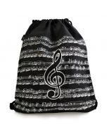 Treble Clef Drawstring Bag