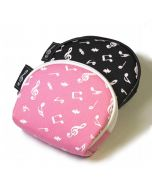 Musical notes semicircle coin purse